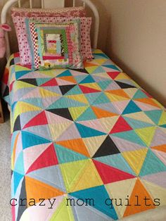 "twister quilt . crazy mom quilts.  {twin size - 6"" finished HST}"
