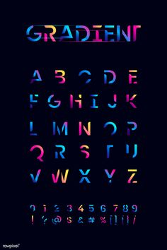 The English alphabet vibrant typography vector Creative Typography, Typography Letters, Typography Poster, Graphic Design Typography, Lettering Design, Japanese Typography, Hand Lettering, Calligraphy Letters, Inspiration Typographie