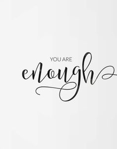 Printable poster You are enough Motivational poster Printable poster Wall art Printable quote Digital poster Scandinavian poster - Zitate - Motivation Quotes To Live By, Love Quotes, Funny Quotes, Inspirational Quotes, Super Quotes, Heart Quotes, You Are Quotes, You Are Beautiful Quotes, The Words
