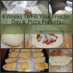 Here is a great freezer recipe for pizza pockets.