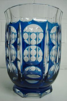 A Val Saint-Lambert crystal Art Deco vase, Belgium, circa 1930
