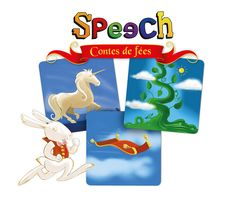 """Speech """"Fairy Tales""""  Make up crazy and unique stories from 120 illustrations based on fantasy and literary themes from fairy tales. Imaginations of all ages will take flight with the 4 different ways to play.  An amazing language game to create stories in the classroom or at home."""