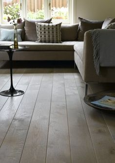 Broadleaf Washed Oak Flooring, a slightly rustic wood floor in soft grey tones, . - Broadleaf Washed Oak Flooring, a slightly rustic wood floor in soft grey tones, perfect for country - Coastal Country, Country Decor, Rustic Wood Floors, Commercial Interiors, Real Wood, Plank, Oak Flooring, Room, Grey