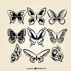 Colección de mariposas artísticas