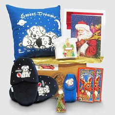 Puppy Slippers Gift Package in Santa's Monogrammed Bag All Gifts, Special Gifts, Christmas Bags, Christmas Holidays, Seashell Chocolates, Chocolate Santa, Holiday Greeting Cards, Goodie Bags, Holiday Festival
