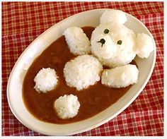 These Adorable Japanese Curry Dishes are Sure to Curry Your Favor - awww so cute! Easter Recipes, Baby Food Recipes, Cooking Recipes, Easter Food, Fun Recipes, Simple Recipes, Cooking Tips, Dinner Recipes, Cute Food