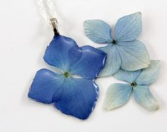 Terrarium Necklace Real Flower and Resin Necklace by JasmineThyme