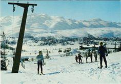 Telemark fylke Tinn kommune Rjukan Gaustablikk Høyfjellshotel skiheisen 1970-tallet Utg Normann