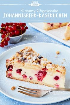 Johannisbeer-Käsekuchen Johannisbeer-Käsekuchen,Obstkuchen – Die leckersten Klassiker und neue Ideen A creamy cheesecake with a few slightly sour currants and dreamy sprinkles. Simply the perfect combination. # Cheesecake with crumble Pastry Recipes, Baking Recipes, Whole30 Recipes, Snacks Sains, Salty Cake, Creamy Cheese, French Pastries, Savoury Cake, Cheesecake Recipes