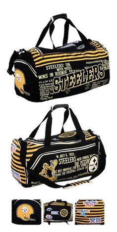 Pittsburgh Steelers Historic NFL Duffle Bag | Sports Giveaways
