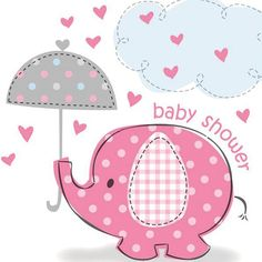 baby shower sheet cakes for girls baby elephants | Pink Elephant Basic Party Pack (8) - £13.49 : Baby Shower Host