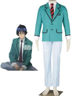 5-Piece Nylon Bakuman School Uniform Cosplay Costume. Hey, guys! Now you can get in on the uniform craze, too, with this handsome ensemble. It features a nice button down dress shirt with collar, cuffs and long sleeves. A pair of tailored trousers with a great belt is worn u.. . See More School Uniform at http://www.ourgreatshop.com/School-Uniform-C874.aspx