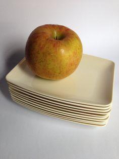 Set of 10 Melamine Pan Am Snack Plates on Etsy, $15.00