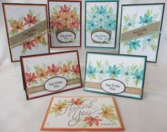Hello Everyone, For this week's Stamp Class I used the Avant Garden stamp set which is a Freebie during Sale a Bration, available until 31st March. I went with two colour combinations, Calypso Coral a