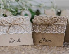 rustic name tags for table setting - Google Search