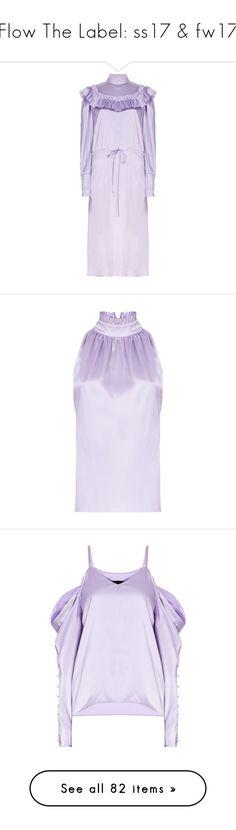 """Flow The Label: ss17 & fw17"" by livnd ❤ liked on Polyvore featuring springsummer2017, livndfashion, livndflowthelabel, FlowTheLabel, dresses, frilly dresses, purple dress, bib dress, mock neck dress and drawstring waist dress"