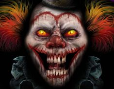 scary clowns | Digital Drawing: 50 Scary Clowns that Will Haunt in Your Dreams