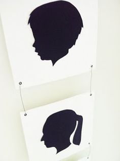 Silhouettes as family portrait