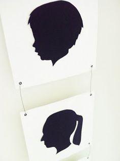 Silhouettes as family portrait
