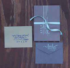HANDWRITTEN envelopes. $2.00, via Etsy.