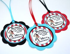 Jake and the Neverland Pirates Birthday Party - Favor Bag Tags - Set of 24. $20.00, via Etsy.