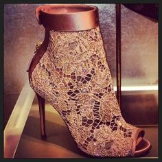 Conquer the night with these Valentino lace booties! More fashion here: www.balharbourshops.com