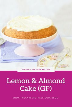 A gluten free, flourless lemon and almond cake with a sweet lemon cream cheese frosting. via @thecakemistress