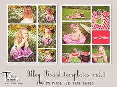 Blog Boards templates for photographers and by TiramisuDesign, $8.99
