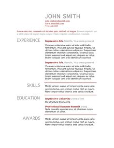 More clean resume templates