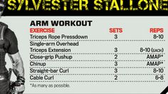 Arm Workout by Sylvester Stallone - The Expendables