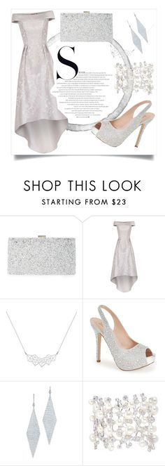 """""""In Love With Silver"""" by iglifenevereasy ❤ liked on Polyvore featuring Sondra Roberts, Chi Chi, Lauren Lorraine, Tiffany & Co., Anabela Chan, silvershoes, silverbag and sioveraccessories"""