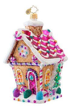 Christopher Radko 'Sugar Shack' Handcrafted Glass Candy House Ornament available… Old World Christmas Ornaments, Merry Christmas Happy Holidays, Colorful Christmas Tree, House Ornaments, Glass Ornaments, Christmas Gingerbread, Christmas Candy, Gingerbread Decorations, Gingerbread Houses