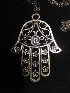 Hamsa Jewelry, Hamsa Necklace, Brass Necklace, Boho Necklace, Fashion Necklace, Boho Jewelry, Silver Jewelry, Jewellery, Ankle Bracelets