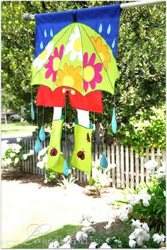 April Showers house flag via a LO and behold life Flags Of The World, April Showers, House Flags, Umbrellas, Sewing, Inspiration, Life, Style, World Flags