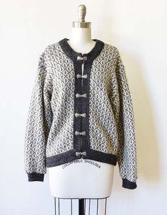 80s wool cardigan sweater vintage L.L. Bean cardigan