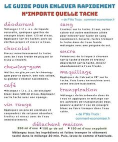 détachant naturel facile tache café chocolat encre sang transpiration vin