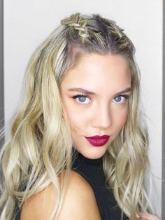 Trendiest Braided Hairstyles 2016: Mohawk Braid Half Up Hair #braids #hair #braidedhair