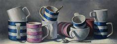 20x50cm Oil on Linen Cornishware, Paintings, Oil, Fine Art, Artist, Paint, Painting Art, Artists, Painting