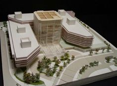 Architectural Scale, Architectural Engineering, Architectural Drawings, Concept Architecture, Modern Architecture, Architecture Models, 3d Modelle, Hospital Design, Arch Model