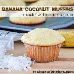 Banana Coconut Muffins #Recipe
