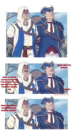 Assassin's Creed III- Acting Out by cherrysplice on deviantart. More Connor and Haytham Kenway goodness.