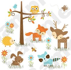 Woodland Animals Baby Nursery Decor Forest Friends Wall Art Decal Mural Stickers for sale online Nursery Wall Murals, Wall Mural Decals, Kids Room Murals, Nursery Decals, Kids Room Wall Art, Baby Nursery Decor, Themed Nursery, Baby Decor, Kids Rooms