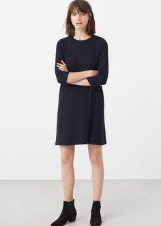 Vestido básico malha (marinho): MANGO (25,99€)