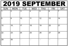 September 2019 Fillable Calendar: September 2019 Fillable Calendar Printable Template with Notes, Fillable September 2019 Calendar PDF, Word, and Excel Calendar 2019 With Holidays, August Holidays, September Calendar, 2019 Calendar, Study Time Table, School Opening, Lists To Make