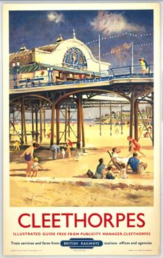 Cleethorpes It's Quicker By RailPier on VintageRailPosters.co.uk Prints