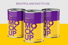 Can With Pull Tap - Hight Angle  by Graxaim Mock-up on @creativemarket
