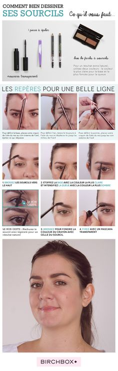 Step by step : comment bien dessiner ses sourcils - Encyclobeauté Birchbox Step by step: how to draw your eyebrows Beauty Make Up, Beauty Care, Diy Beauty, Beauty Hacks, Goth Makeup, Diy Makeup, Makeup Tips, Eyebrow Makeup, Eyebrows Step By Step