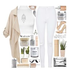 """""""SheInside Coat"""" by xgracieeee ❤ liked on Polyvore featuring Topshop, WearAll, 1928, Monki, Essie, H&M, Byredo, Elie Saab, The Body Shop and Chanel"""