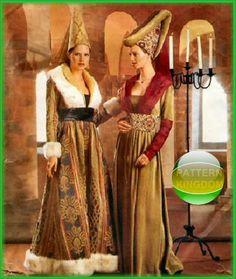 Butterick 6751 Medieval/Reniassance 15thC. Gown & Hennin Patterns