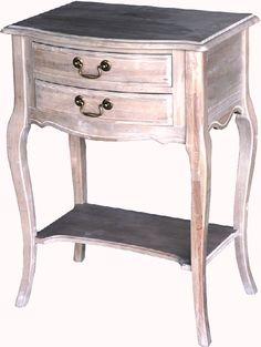 Natural Antik -sarjan yöpöytä 2-laatikolla   Uuttakotiin.fi Nightstand, Bedroom, Table, Furniture, Home Decor, Natural, Bedside Desk, Bedrooms, Night Stands